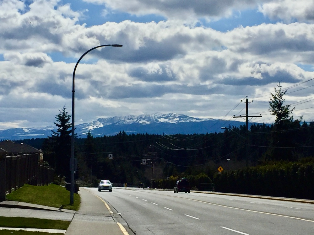 April, 2020 - Campbell River - Dogwood Street - View of Coastal Mountains