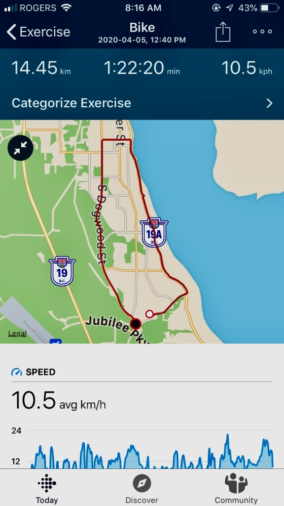 Sunday - Long Bike Ride