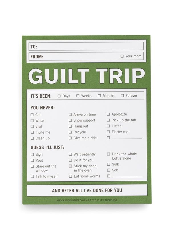 Best Ever Guilt Trip Description