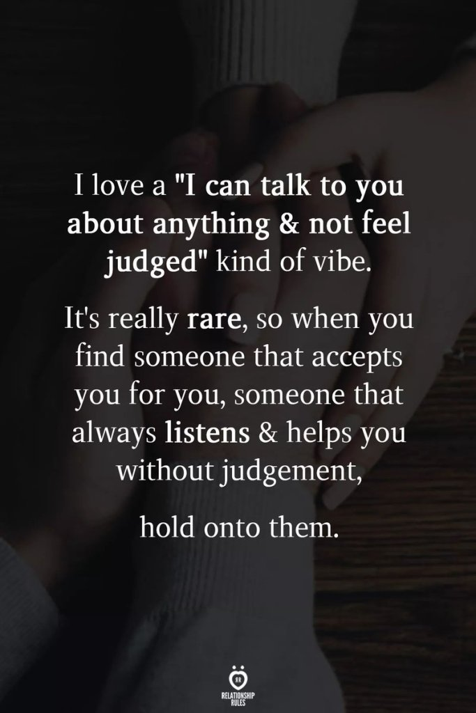 Relationship Rules Quote: Love without Judgement