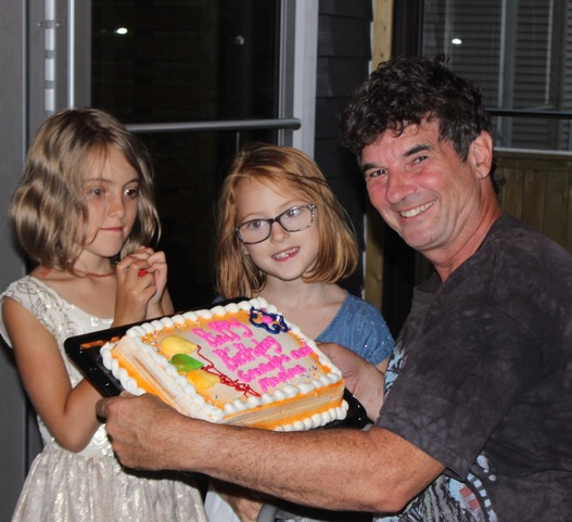 2019 - Laya, Mila and Michael - Happy 60th Birthday Grandpa!!