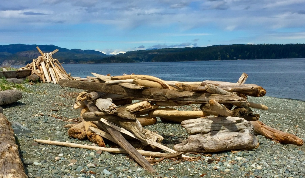 April, 2020 - Campbell River, Vancouver Island, British Columbia - Spit Road Beach