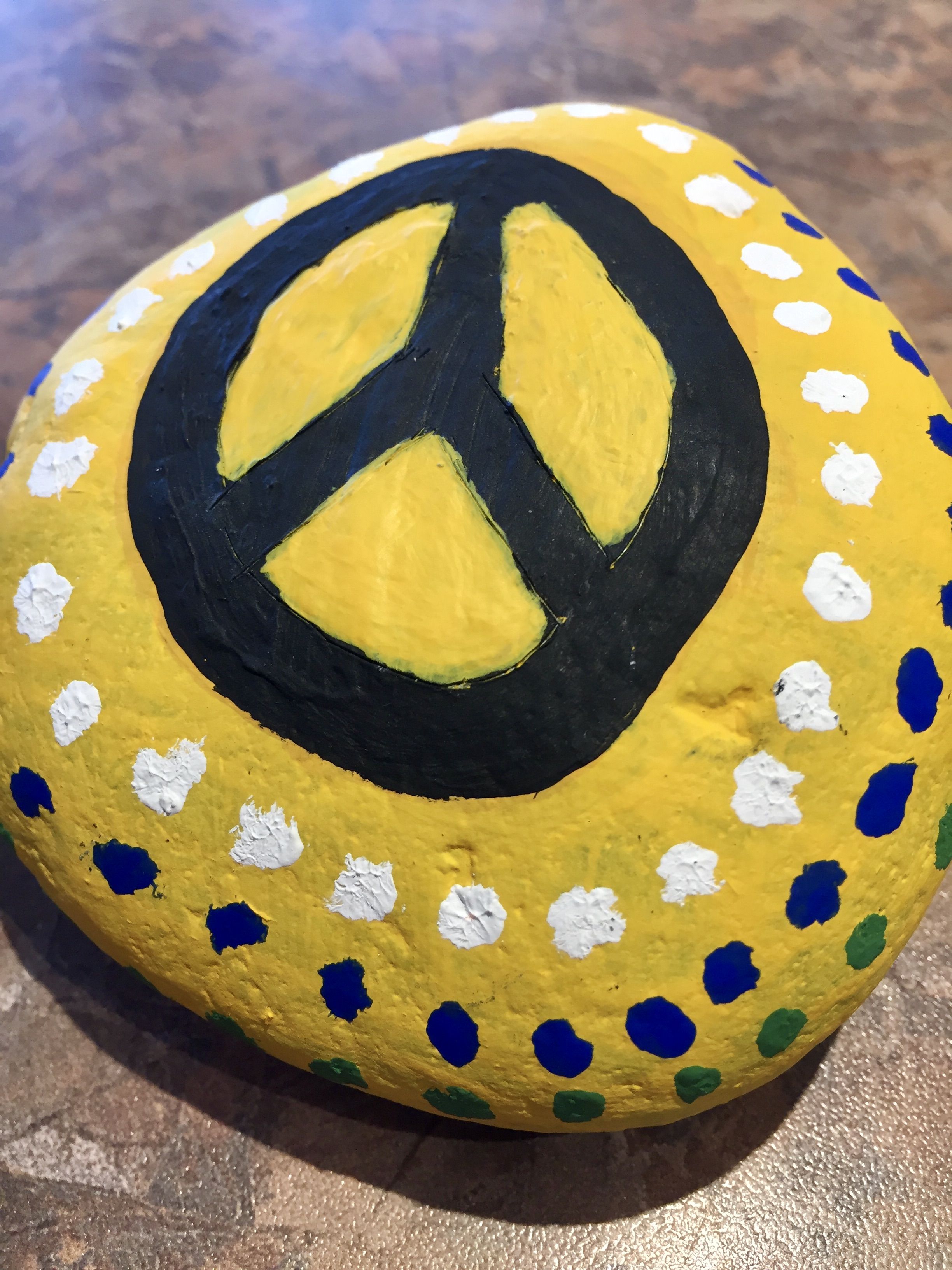 May, 2020 - Campbell River, Vancouver Island, British Columbia - My first painted rock!!