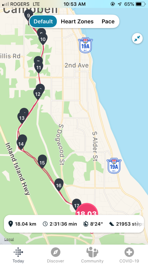 June, 2020 - Sunday - 18km