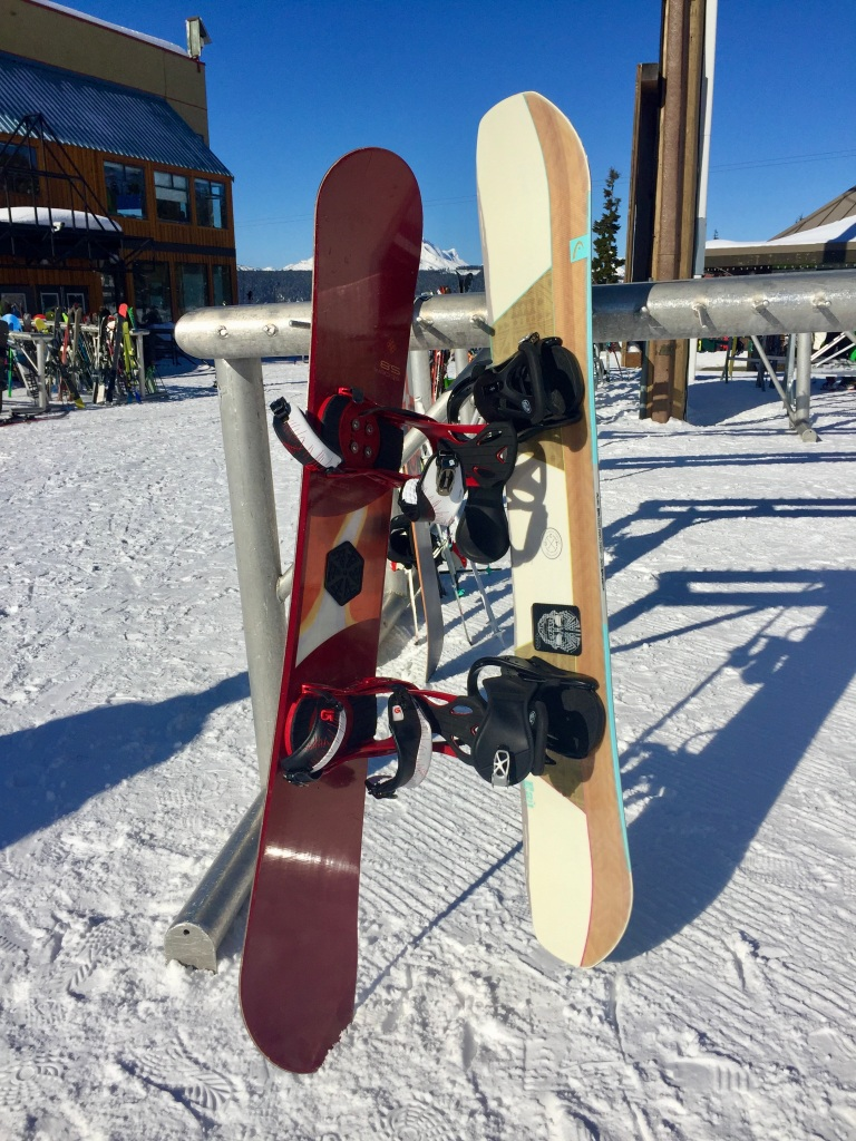 March 15th, 2020 - Mount Washington, Vancouver Island, British Columbia - Mount Washington Alpine Ski Resort - Our snowboards!