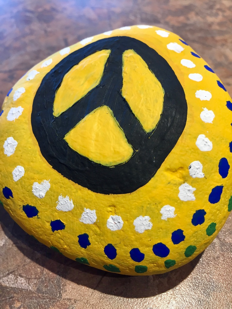 Spring/Summer 2020 - Campbell River, Vancouver Island, British Columbia - Painted Rocks - Peace!