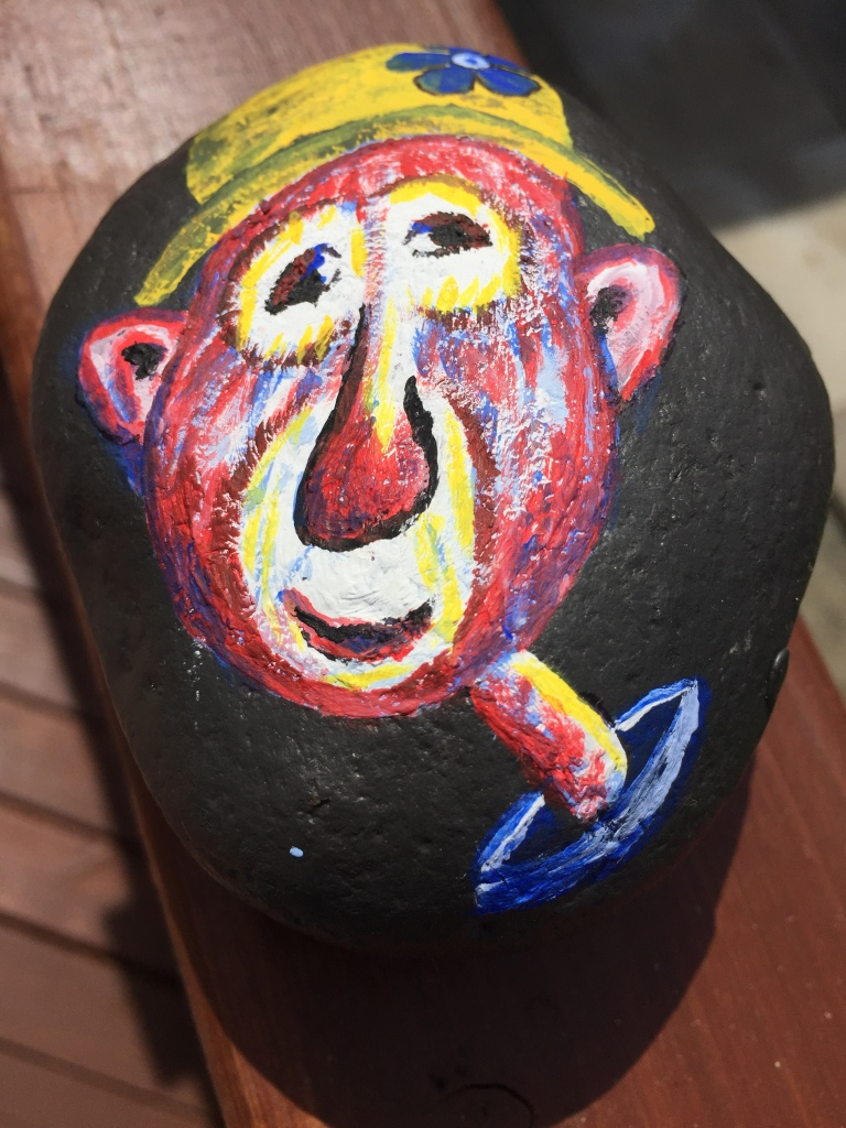 Spring/Summer 2020 - Campbell River, Vancouver Island, British Columbia - Painted Rocks - Clown