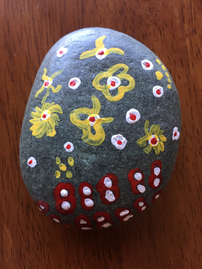 Spring/Summer 2020 - Campbell River, Vancouver Island, British Columbia - Painted Rocks - Little flowers