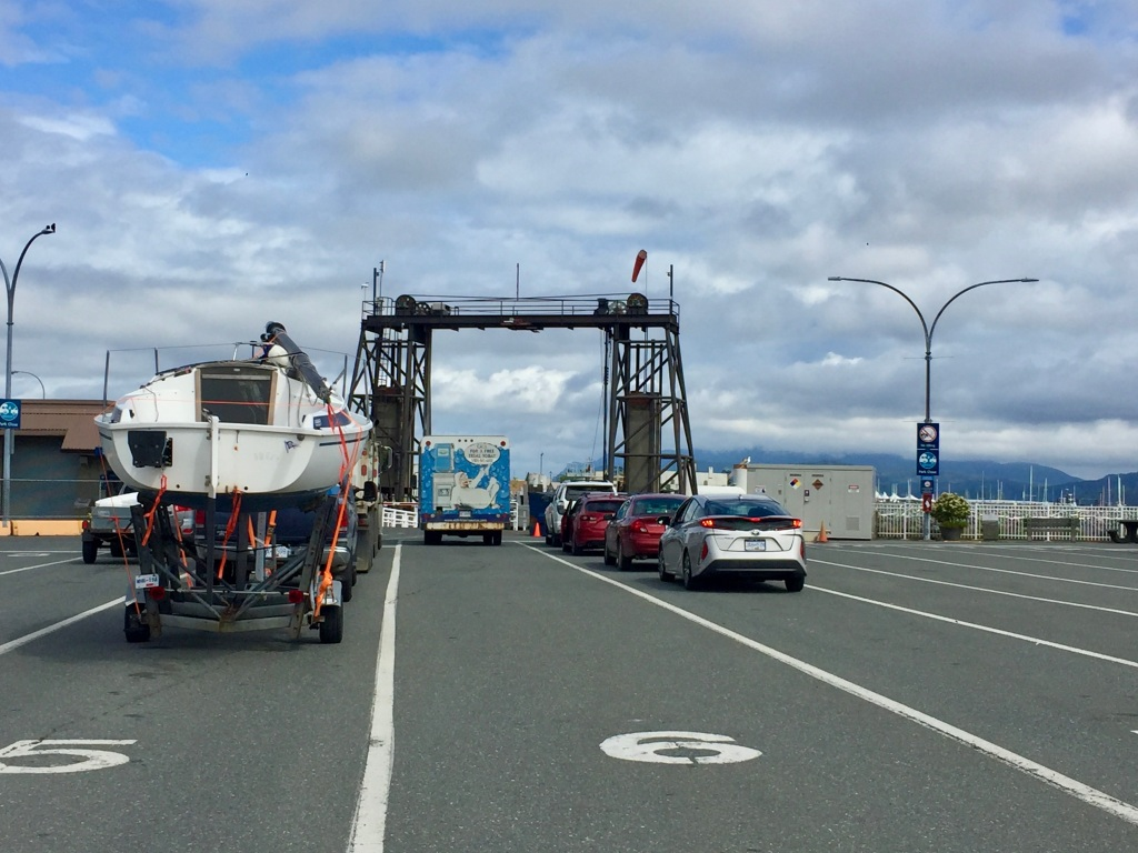 July 16th - Ferry ride from Campbell River to Quadra Island - Waiting for the ferry