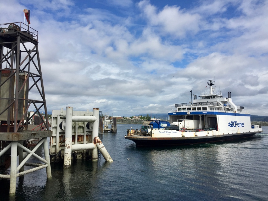 July 16th - Ferry ride from Campbell River to Quadra Island - Ferry arriving on the Campbell River side