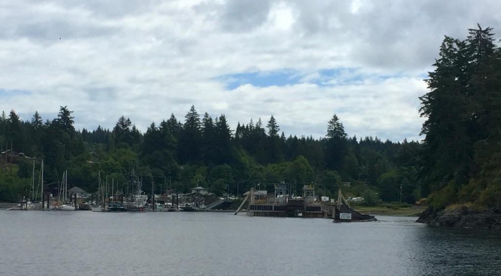 July 16th - Ferry ride from Campbell River to Quadra Island - Arriving, Quadra Island - Quathiaski Cove