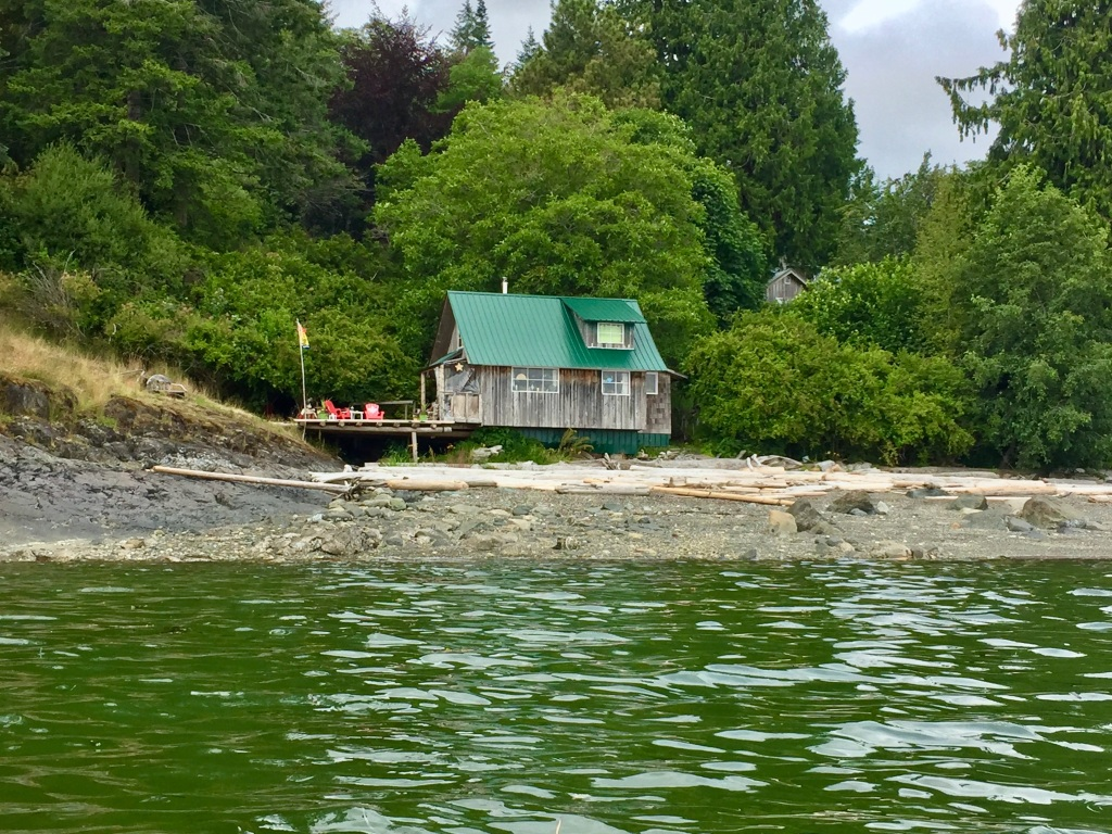 July 16th - Quadra Island, British Columbia - Kayaking - Cool little cottage!