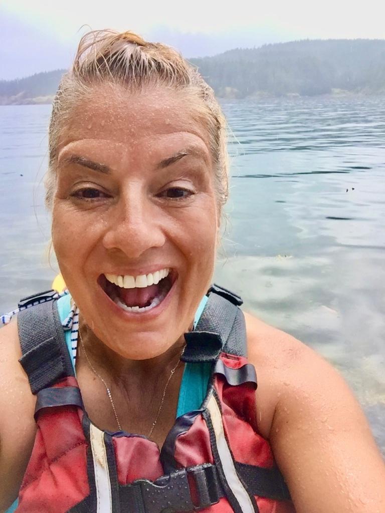 July 16th - Quadra Island, British Columbia - Kayaking - Hyacinthe Bay - SO HAPPY! I've never had an eagle fly so close to me!