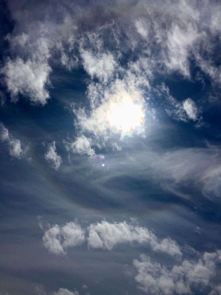 July 16th - Quadra Island, British Columbia - Kayaking - Hyacinthe Bay - Ring around the sun