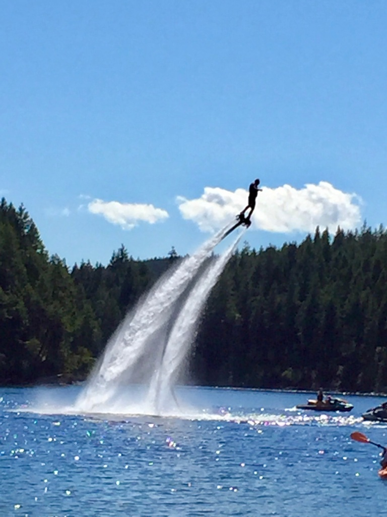 August, 2020 - McIvor Lake, Campbell River, Vancouver Island, BC - Flyboarding - Fly High Adventures