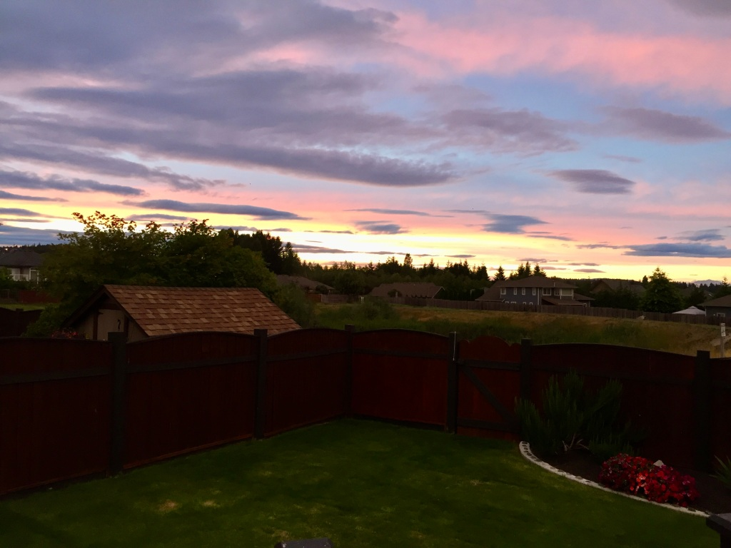 August, 2020 - Campbell River, Vancouver Island, British Columbia - Sunsets