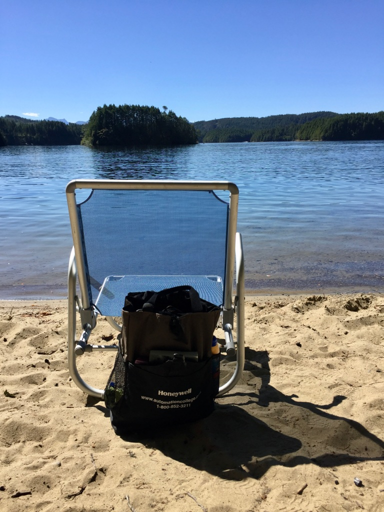 August, 2020 - McIvor Lake, Campbell River, Vancouver Island, BC - Hidden beach - Front row seat