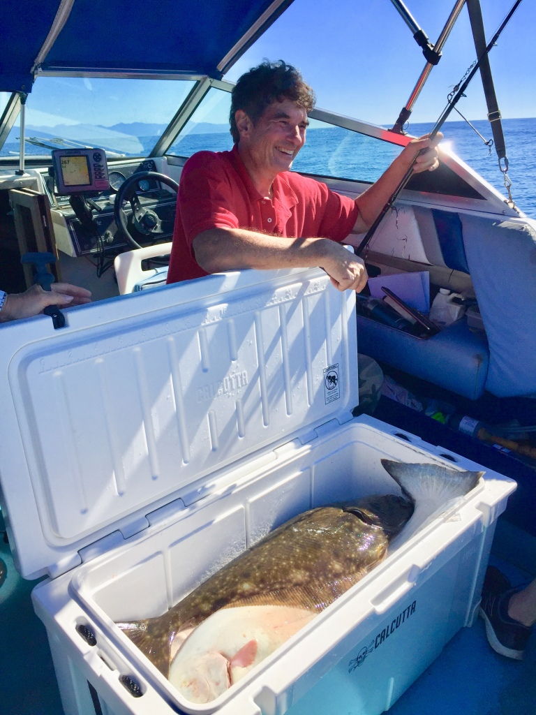 September 9th, 2020 - Quatsino Sound, Vancouver Island - Michael's 10 lbs halibut!