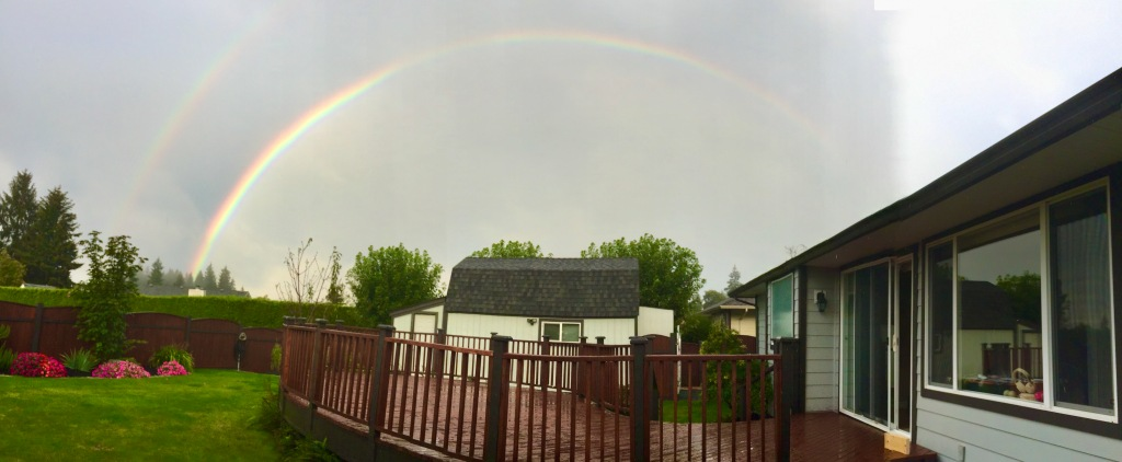 August/September, 2020 - Campbell River, Vancouver Island, British Columbia - Rainbow over the barn!