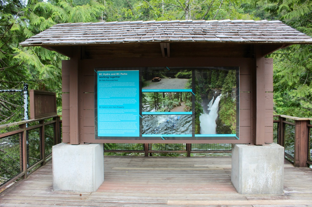 July, 2020 - Campbell River, Vancouver Island, British Columbia - Elk Falls Provincial Park - BC Hydro Station