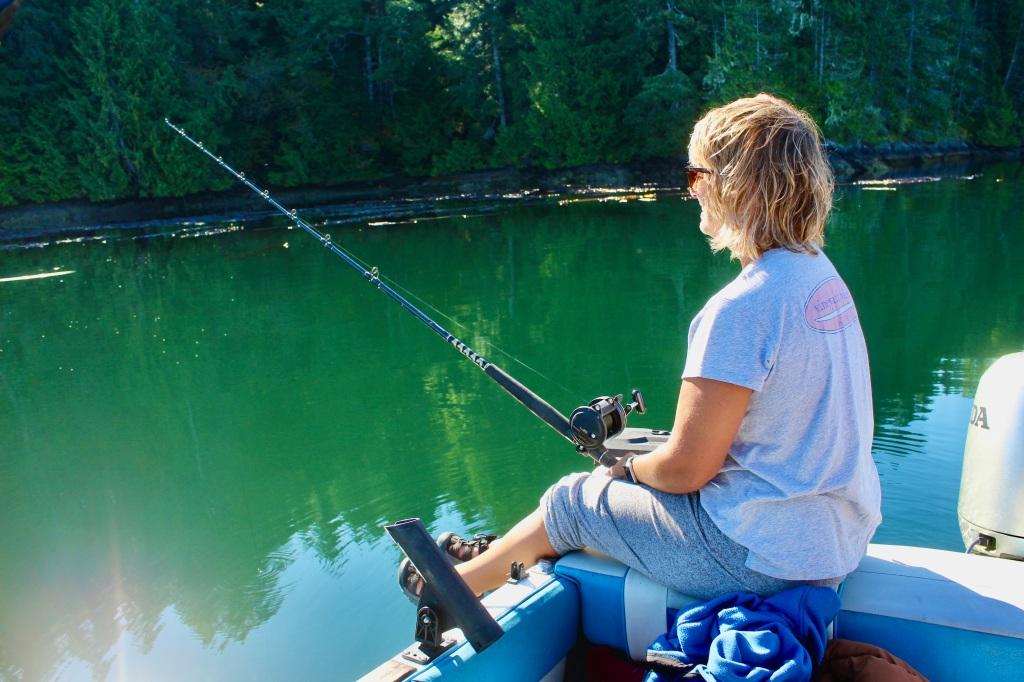 September, 2020 - Quatsino Sound, Vancouver Island, British Columbia - Jigging for cod or halibut