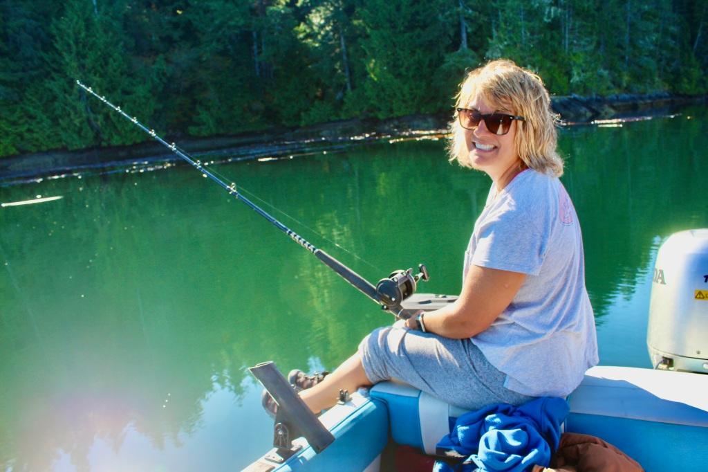 September, 2020 - Quatsino Sound, Vancouver Island, British Columbia - Joyful Stephanie!