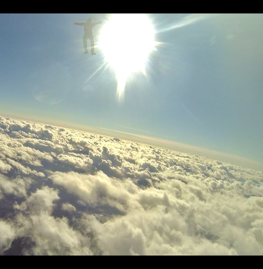 October 20th, Campbell River, Vancouver Island, British Columbia - Michael - Skydiving - Michael in front of the Sun!