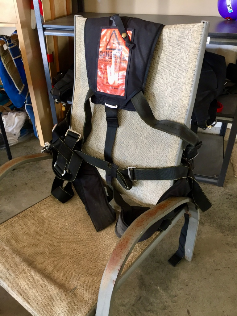 October 31st, 2020- Capital City Skydiving - The tandem passenger harness - that would hold my life!!