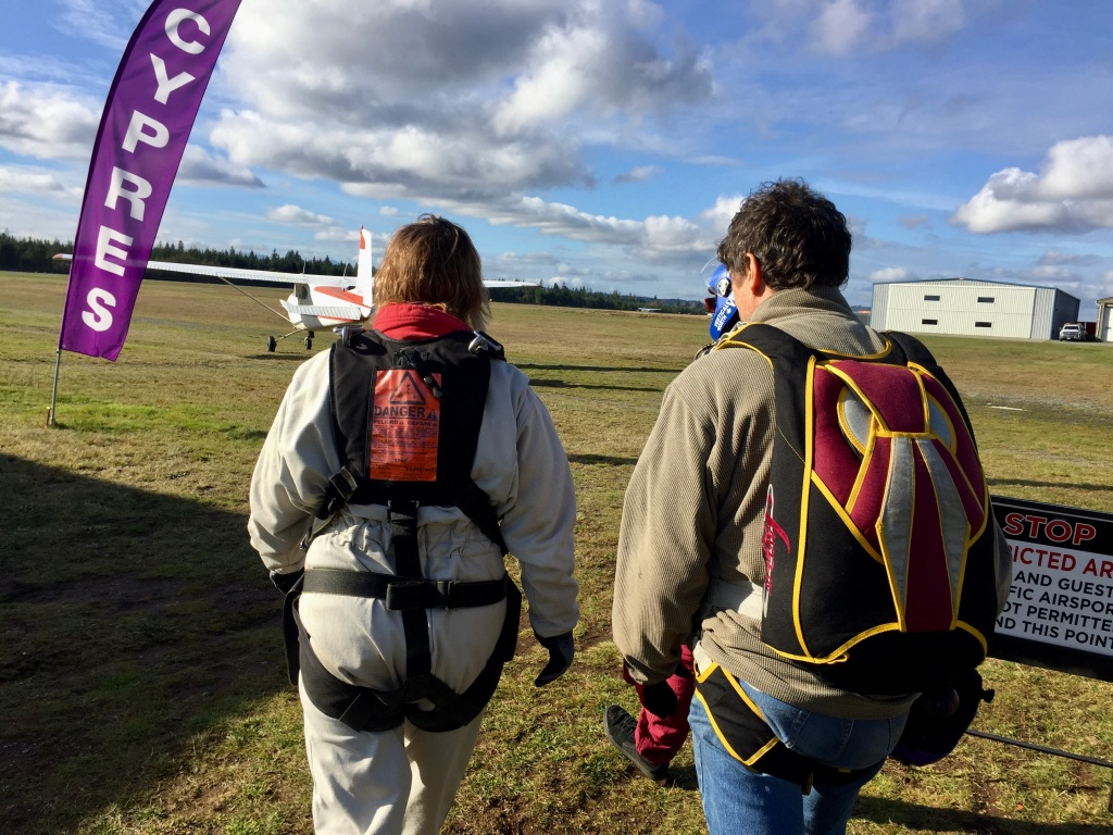 October 31st, 2020- Capital City Skydiving - Walking to the plane