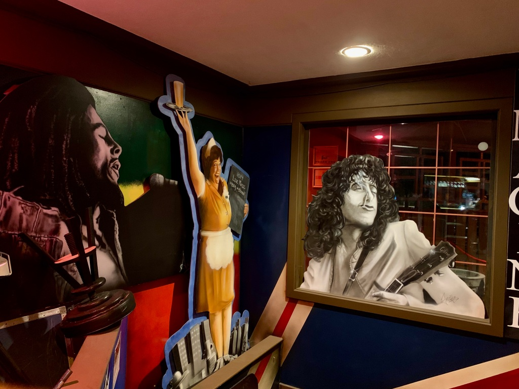 "November 14th, 2020 - Victoria, Vancouver Island, British Columbia - The Loft Pub Victoria - Bob Marley, another of Supertramp's Breakfast in America's ""Libby""/Kate Murtagh, and Jimmy Page"