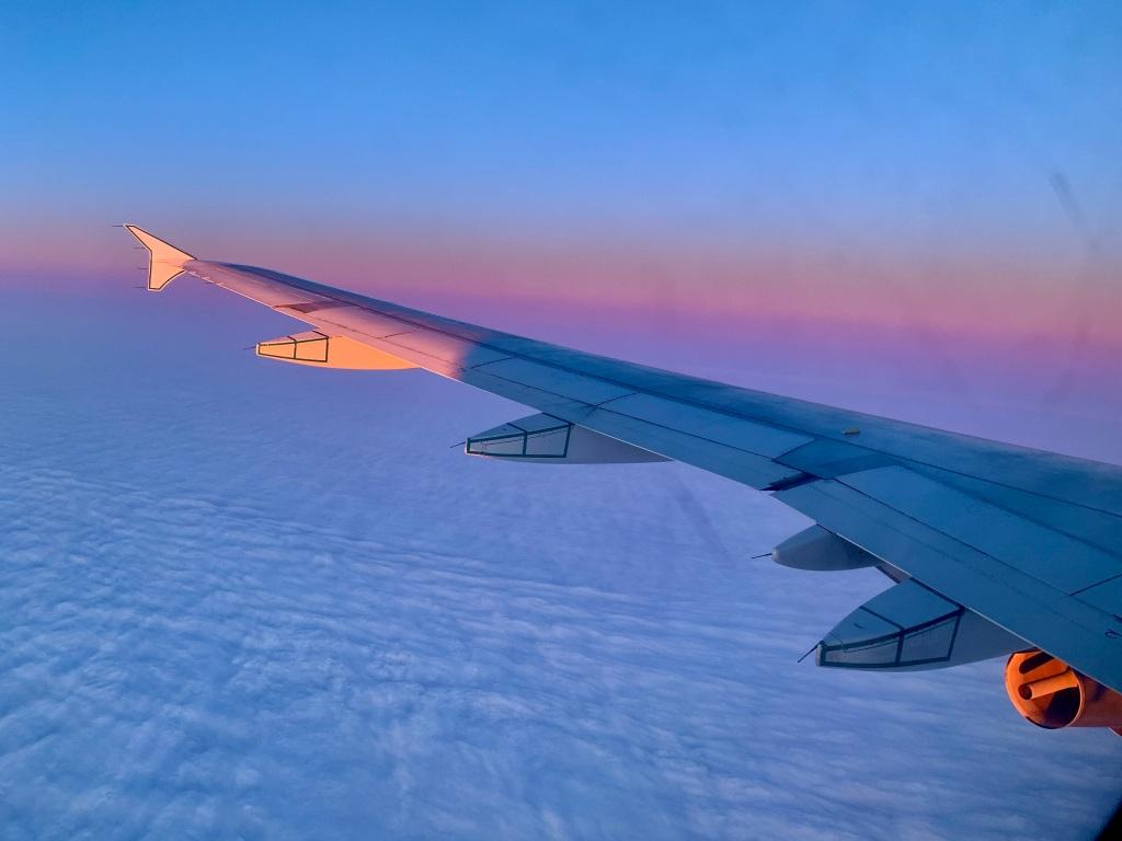 November 15th, 2020 - Flight from Victoria to Toronto - Setting sun...