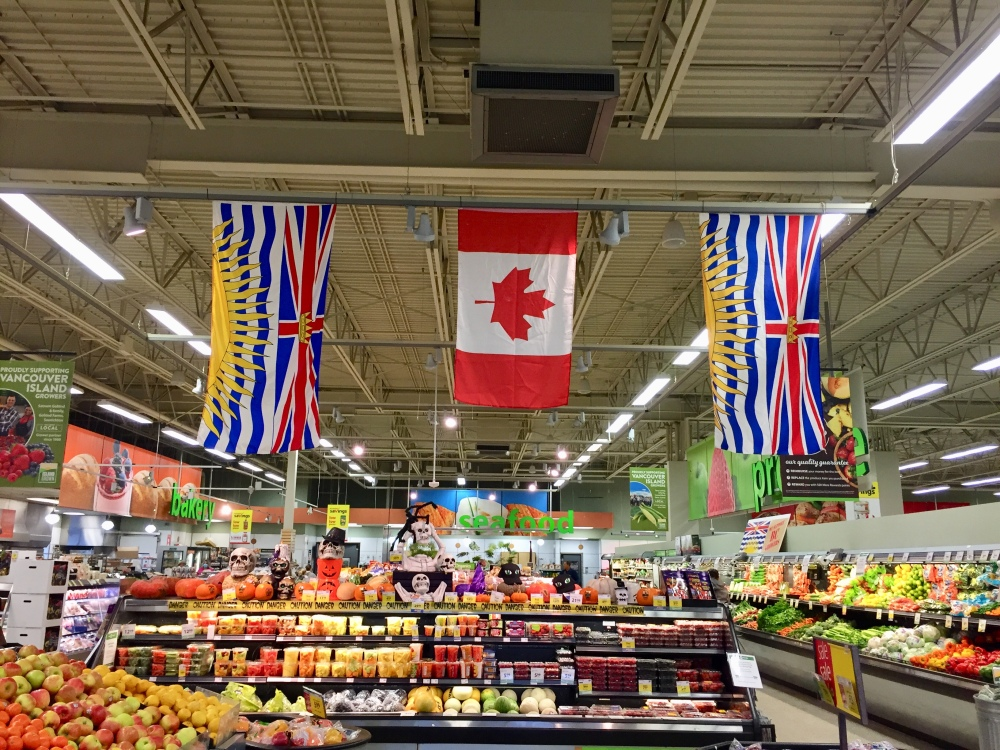 Campbell River, Vancouver Island, British Columbia - Walking into Save on Foods grocery store