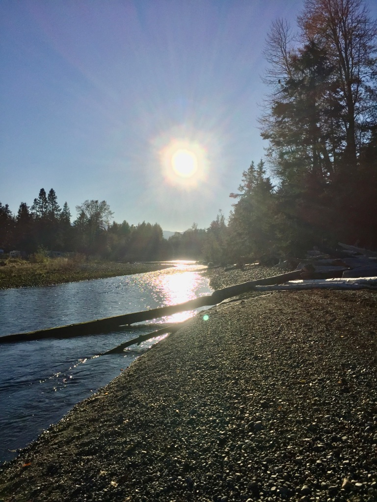 Oyster River, Vancouver Island, British Columbia - At the mouth of the river - setting sun.
