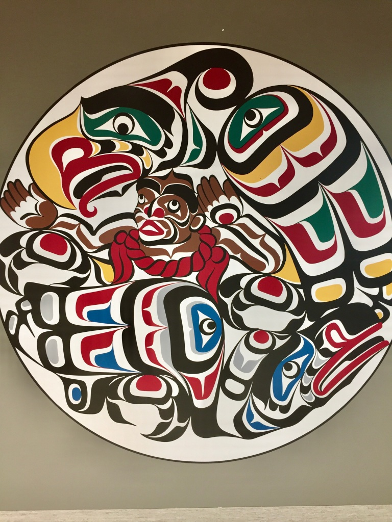 Campbell River, Vancouver Island, British Columbia - Haida art in the Campbell River Hospital