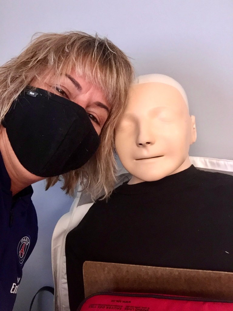 Campbell River, Vancouver Island, British Columbia - Me and my First Aid Training dummy!!!
