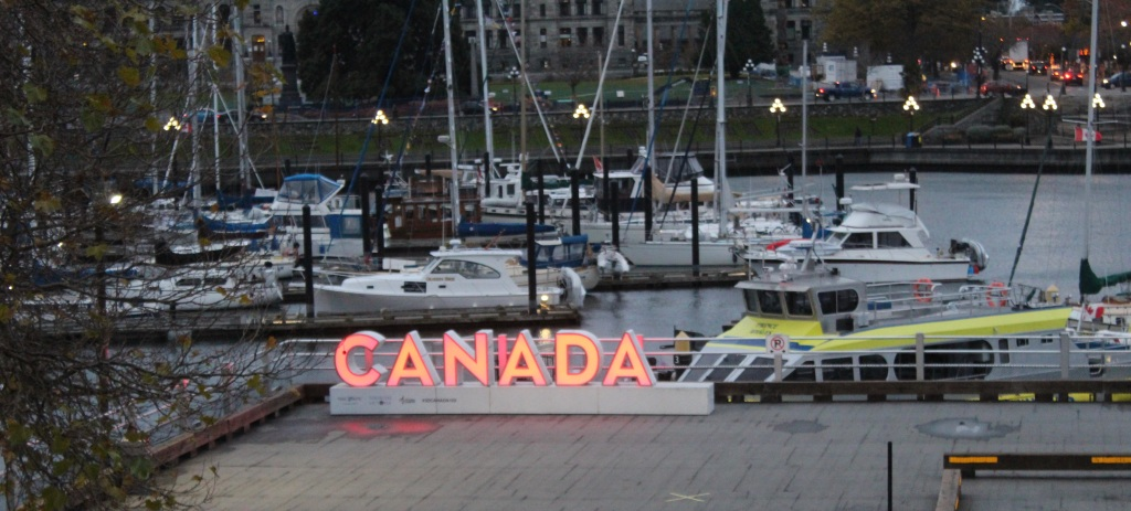 November 14th, 2020 - Victoria, Vancouver Island, British Columbia - Waterfront - Canada Sign