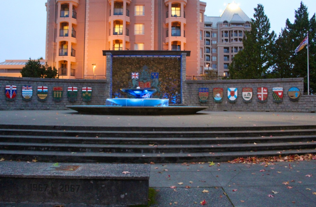 November 14th, 2020 - Victoria, Vancouver Island, British Columbia - Waterfront - Provincial Monument near Parliament Building