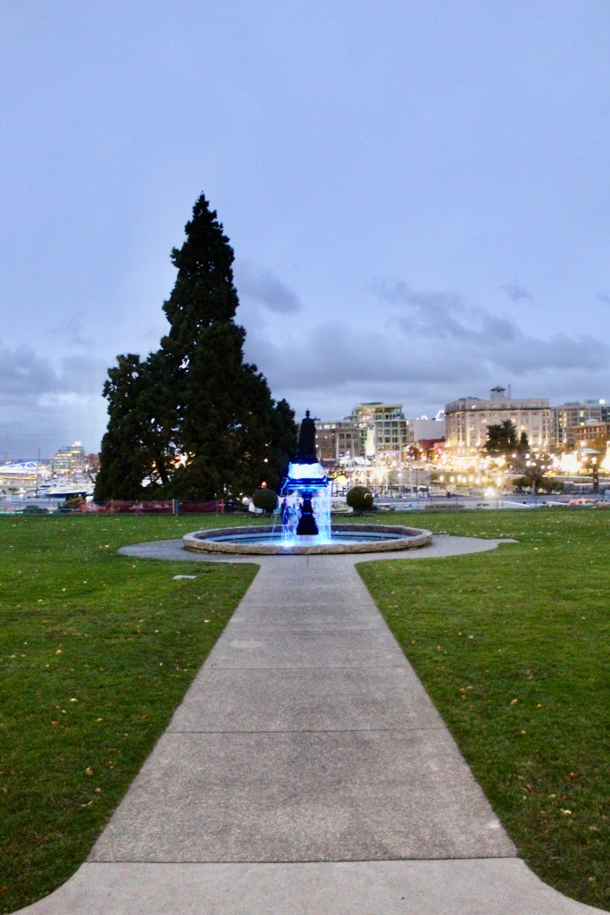 November 14th, 2020 - Victoria, Vancouver Island, British Columbia - Waterfront - British Columbia's Parliament Building - Grounds