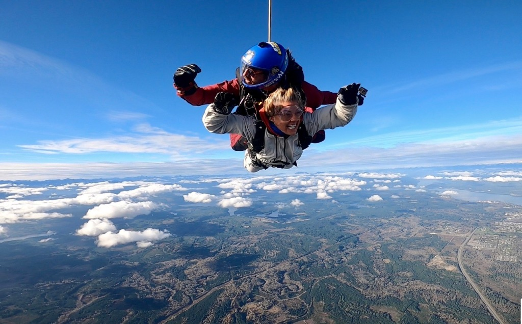 October 31st, 2020- Capital City Skydiving - The moment I see Michael!