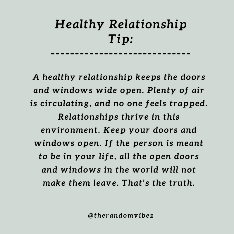 A Healthy Relationship and Space - Quote - The Random Vibez