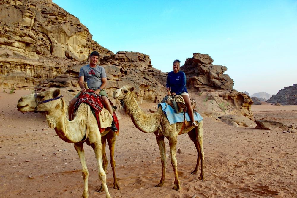 2019 - Wadi Rum, Jordan - Morning camel trek across the desert
