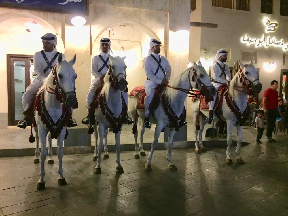 November, 2017 - Doha, Qatar - Souq Wakif - Qatari Traditional Guards of the Souq