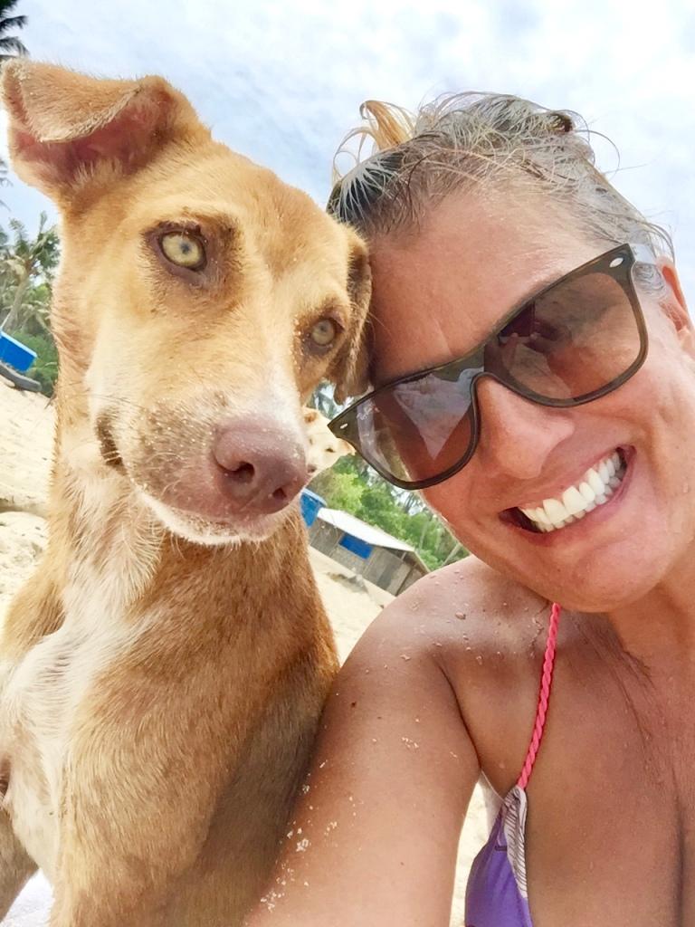 June, 2019 - Mararikulam North, Kerala, India - Olive and I at the beach!