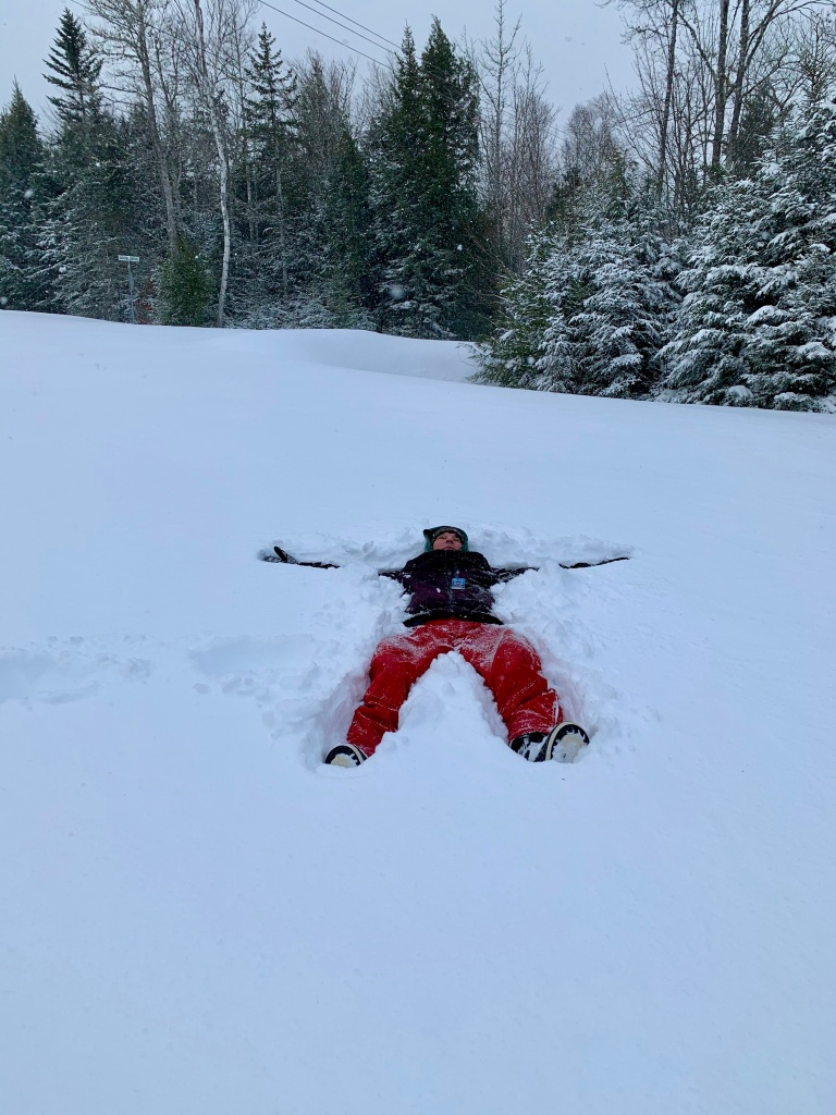 February 8th, 2021 - Snow Day - Falls Lake Resort - Snow Angel on Resort Road!