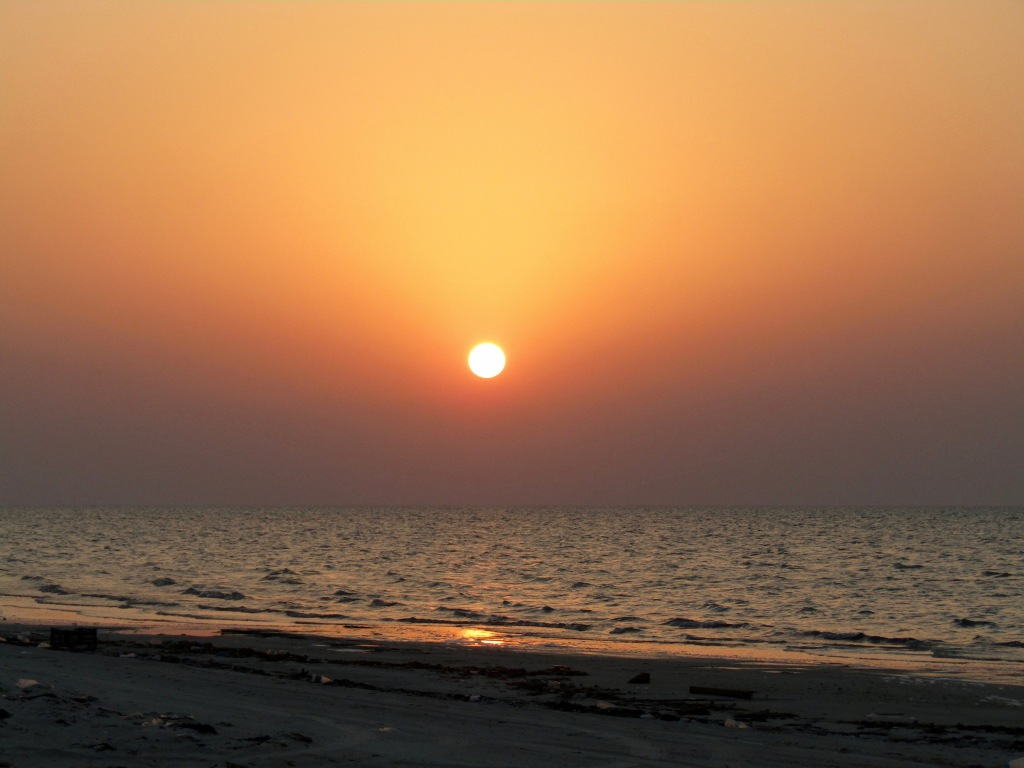 October, 2016 - North of Dukhan, Qatar - Camping on the Beach - Sunset