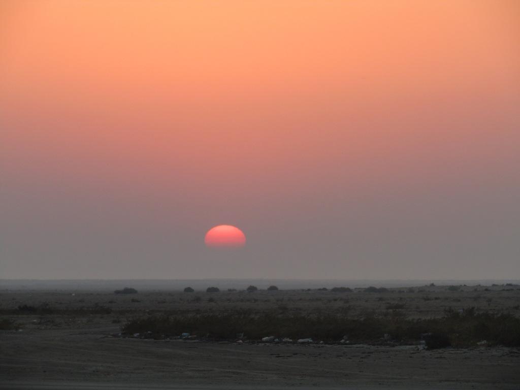 October, 2016 - North of Dukhan, Qatar - Camping on the Beach - Michael - Sunrise