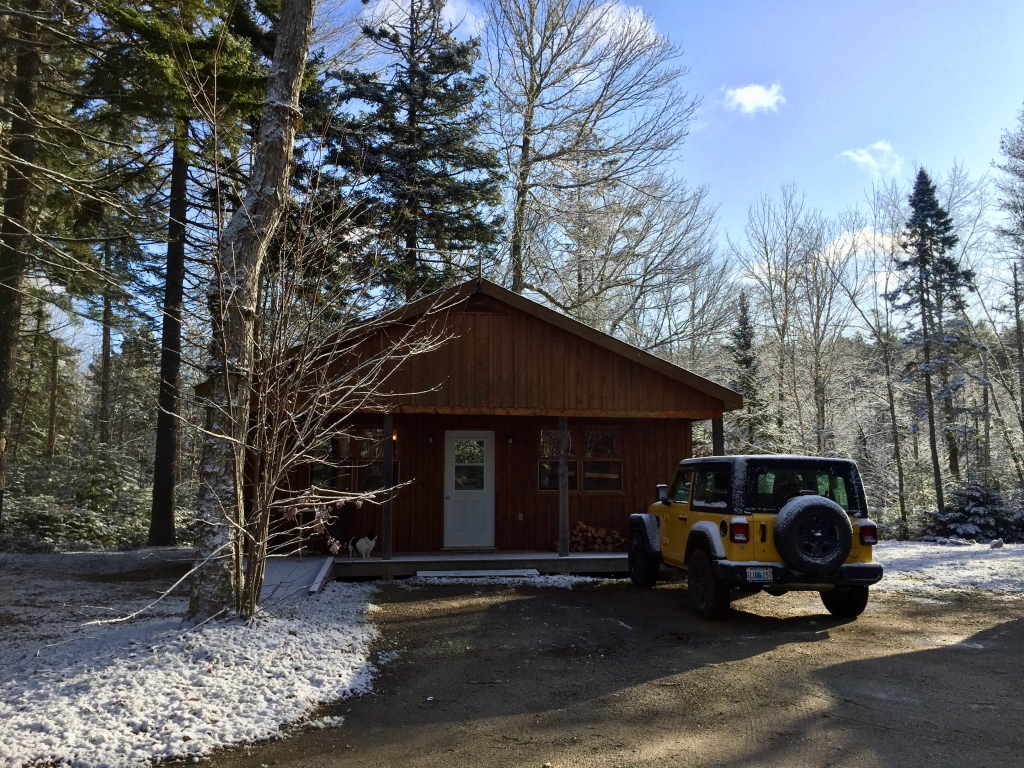 November, 2019 - Vaughan, Nova Scotia - Settling into our little rented cabin, in the woods, up in the low mountain.