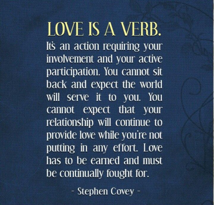 Stephen Covey - Love is a Verb