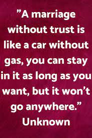 Marriage and Trust - Quote