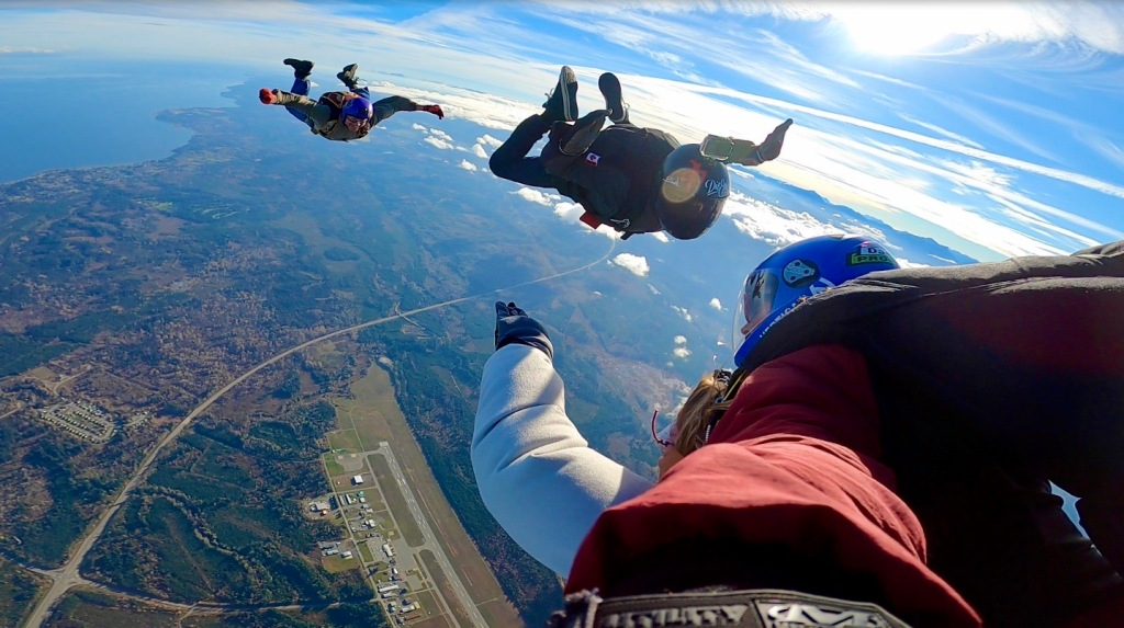 Joyful Stephanie - Tandem Skydiving